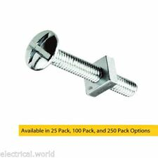 M5 x 16mm Bright Zinc Plated Roofing Bolts With Nut - Trunking, Guttering