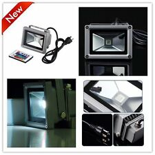 Remote Control 10W 12/85/265V LED Flood Light Lamp Floodlight Waterproof LOT XP