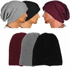 Chic Men Women Warm Knit Ski Beanie Skull Slouchy Oversize Cap Hat Unisex New XP