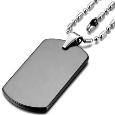 Necklace Mens Military Army Dog Tag Steel Stainless Pendant