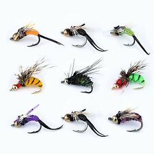 Piscifun 40pcs Wet Flies Fly Fishing Lures Bass Salmon Trouts Sinking Flies...