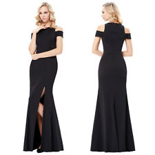 Long Formal Mermaid Gown Evening Prom Party Bridesmaid Cocktail Prom Black Dress