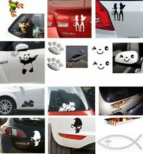 Religious or Funny Exterior Waterproof Car Sticker Decal Paw Prints Family etc.