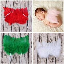 Infant Newborn Feather Angel Wings Photo Props Baby Costume Lace