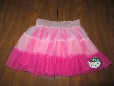 Hello Kitty Girls XS 4/5, Small 6/6X or Large 10/12 Pink TuTu Ruffle Skirt NWT