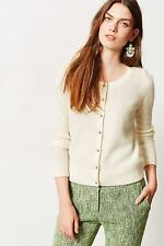 Anthropologie Epoca Cardigan Sz XSP & MP, Ivory Cardi Sweater Topper By Monogram
