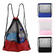 Sports Pack Travel New Tote Mesh Drawstring Bag Backpack
