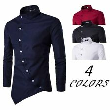 Fashion Men's Luxury Casual Slim Fit Shirt Stylish Long Sleeve Dress Shirts Tops