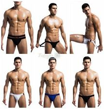 Sexy Mens Athletic Supporter Jockstrap Briefs Open Butt Underwear Underpant S-XL