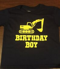 Birthday Boy personalized construction Shirt digger tshirt crane clothes t shirt