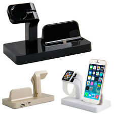 Desktop Docking Charger Station Stand Cradle For iPhone 5 5s 6 6s 7 Apple Watch