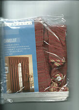 "2 Ascot Camelot Valance 50"" x 22"" by Designables  Spice colored. New & unopened."