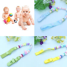 Baby Boys Girls Dummy Pacifier Clip Chain Holder Soother Nipple Strap Gifts