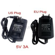 5V 3A AC100-240V to DC Power Supply Charger Adapter Converter EU US 5.5mm*2.1mm