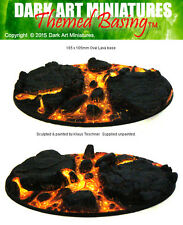 Lava themed resin cast bases for wargaming. MULTI-LISTING