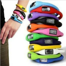 Digital Silicone Rubber Jelly Ion Sports Bracelet Wrist Watch Free Shipping  SN