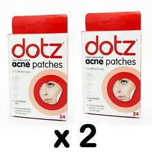 48 X Dotz Acne Patches Breathable Clear Spot Skin Face Protection 2 PACK