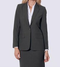 New Ladies Suit Jacket Charcoal Grey Clubclass Corporate wear RRP £75 size 6 -26