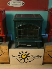 Sun Valley Cast Iron Gas Stove Heater Hepplewhite Black Vent Free