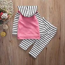 2pcs Fashion lovely Kids Baby Girls Toddler tops + pants Clothes Outfits Set