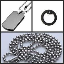 Mens Ball Bead Chain Steel Stainless Military Army Pendant Dog Tag