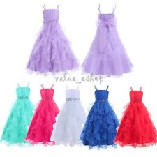 Dress Flower Princess Organza Sleeveless Formal Party Wedding Bridesmaid Pageant