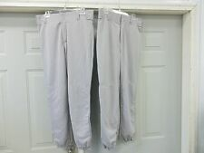 2 ALLESON ADULT SOFTBALL BASEBALL PANTS GRAY GREY BUTTON SIZE XXL XL L S NEW