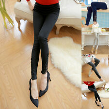 Womens Sexy Lace Cotton Stretchy Skinny High Waist Casual Leggings Pants New