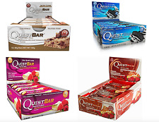 QUEST PROTEIN BARS 12x60g BACK DATED COOKIE,WHITE CHOC  DEC/16  CHOC CHIP NOV/16