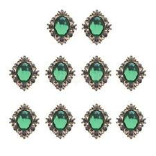 10PCS RHINESTONE DIAMANTE ALLOY DIY CRAFT EMBELLISHMENTS FOR SCRAPBOOKING CRAFT