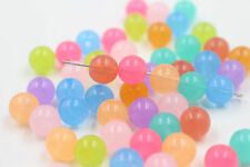 6/8/10/12mm Acrylic Plastic Mixed Candy color Round Ball Loose Spacer Beads