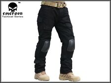 Gen2 Tactical Pants with knee pads Emerson Combat BDU Airsoft Army Black 6988