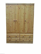 BRAND NEW  PINE WARDROBE 3 door