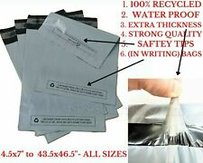 STRONG GREY SELF SEAL MAILING BAGS POLYTHENE POSTAGE POLY PACKING CHEAP ON EBAY