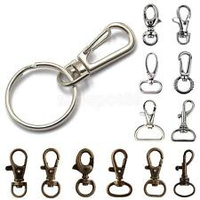 Lot Metal Swivel Snap Lanyard Hook Lobster Clasp Clips for Key Chain