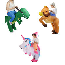 Adult Inflatable Dinosaur Horse Riding Cowboy Unicorn Fancy Dress Party Costume