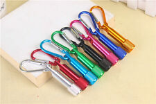 Mini LED Flashlight Carabiner Keyring KeyChain Torch Clip Hook Camping Carabiner