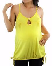 Yellow Solid Maternity Womens Maternity Top Blouse New Button Cami
