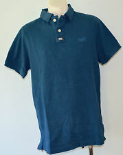 Superdry Mens Polo T - Shirt - BLUE - SIZE - XXL - NEW