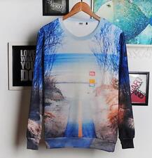 Top Men's Sea & Street Design Cotton Blend Sweater Round Neck Long Sleeve Jacket