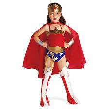 6PC Child Wonder Woman Costume Halloween Kids Superhero Costume with Superher...