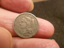 1865 THREE CENT NICKEL  CIVIL WAR-RELIC