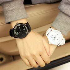 Lovers Jelly Quartz Large Dial Soft Silicone Strap Band Wrist Watches