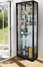 BNIB LOCKABLE RETAIL DOUBLE GLASS DISPLAY CABINET VARIOUS COLOURS WITH MIRROR