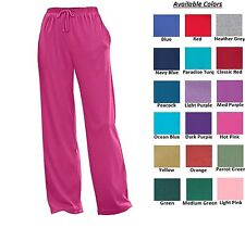 Women's Sport Knit pants with drawstring elastic waist relaxed fit Plus Big Size