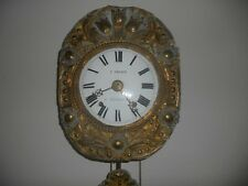 Antique French  Farmers Wall Clock. About 200 hundred plus years old.