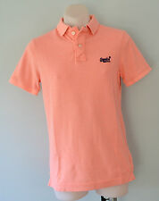 Superdry Mens Polo T - Shirt - PEACH - SIZES -  S, M & L - NEW