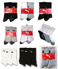 NEW Puma Mens Crew Socks 6-Pair Pack, Sports Athletic Socks VARIETY
