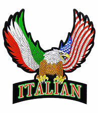 Italian Flag American Eagle & Rocker Patch, Eagle Patches