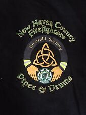 New Haven County (CT) Firefighters Emerald Society Pipes and Drums Tee Shirt
